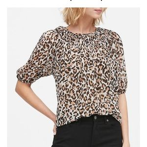 NWT Banana Republic Leopard Print Blouse - Small
